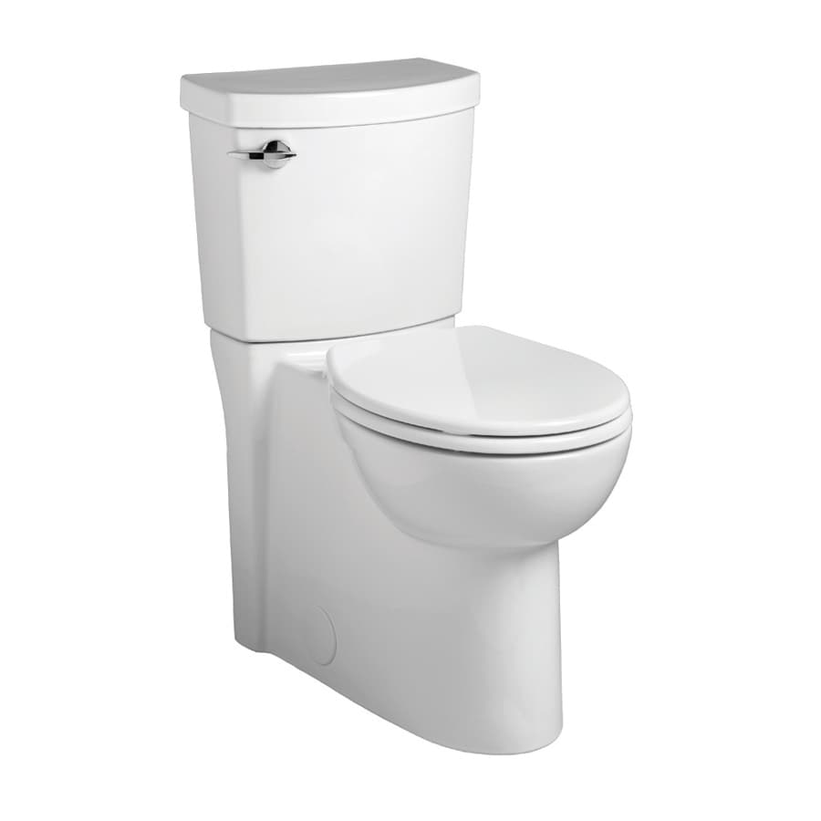 American Standard Clean 1.28-GPF White WaterSense Round Chair Height 2-Piece Toilet