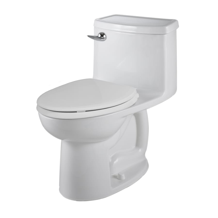 American Standard Saver White WaterSense Labeled  Elongated Chair Height 1-piece Toilet 12-in Rough-In Size