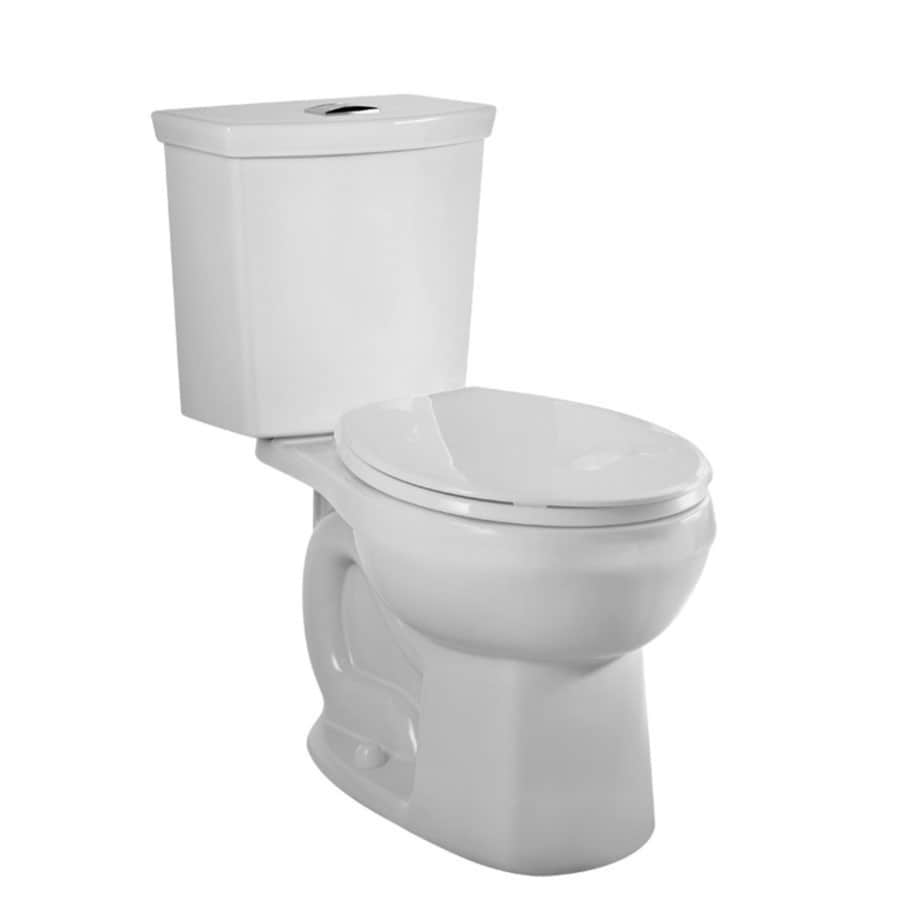 American Standard Clean 1.6 White WaterSense Dual-Flush Elongated Chair Height 2-Piece Toilet