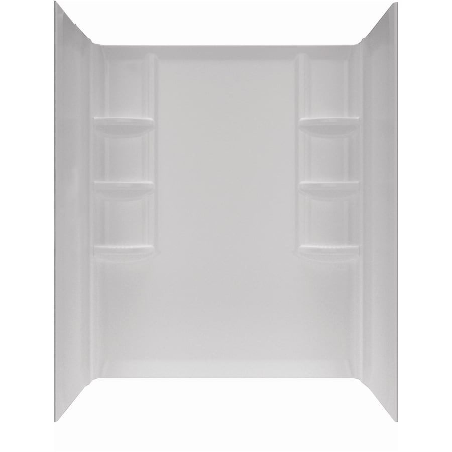 American Standard Clean 60-in W x 32-in D x 58-in H Arctic White Acrylic Bathtub Wall Surround