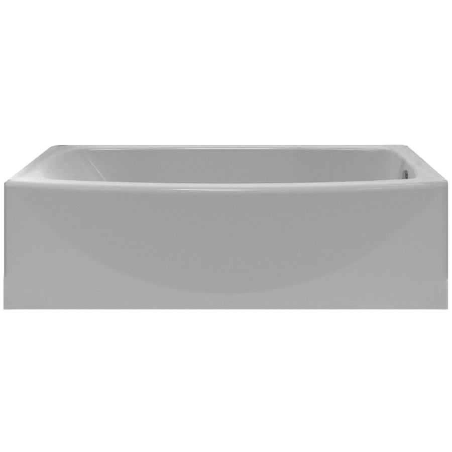 Shop american standard saver 60 in arctic with right hand for How long is a standard bathtub