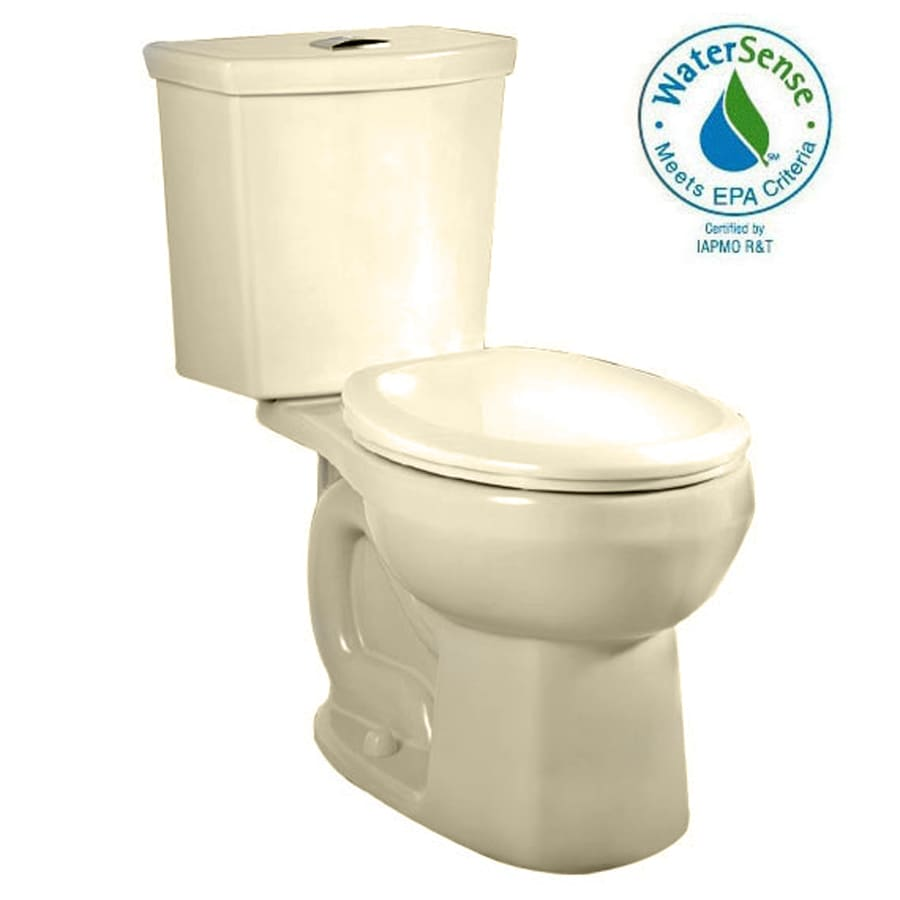 American Standard H2Option 1.6-GPF Bone WaterSense Dual-Flush Round Chair Height 2-Piece Toilet
