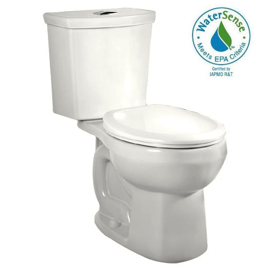 American Standard H2Option White 1.6; 1.1-GPF 12-in Rough-in WaterSense Round Dual-Flush 2-Piece Comfort Height Toilet