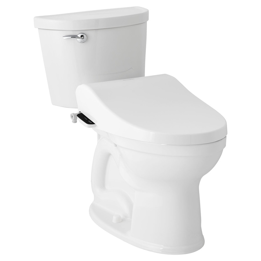 American Standard Advanced Clean 2 5 White Elongated Slow Close Heated Bidet Toilet Seat In The Toilet Seats Department At Lowes Com