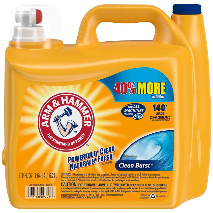 Is arm and hammer powder laundry detergent he - Arm Hammer 210 Fl Oz Clean Burst He Laundry Detergent