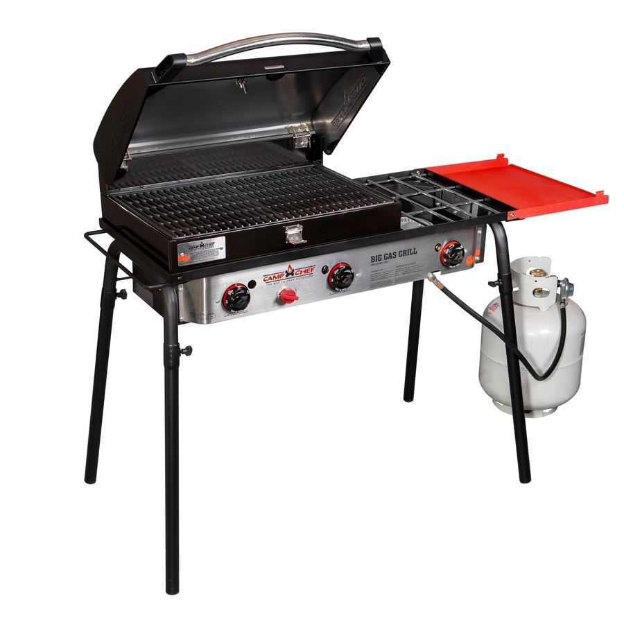 Camp Chef Big Gas Grill 37-in 3-Burner 20-lb Cylinder Electronic Ignition Red Outdoor Stove