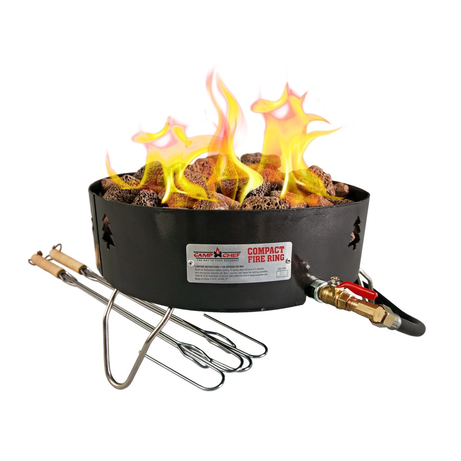 Camp Chef 19-in W 55000-BTU Black Steel Portable Steel Liquid Propane Fire Pit