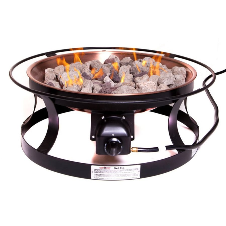 Camp Chef 30-in W 55,000-BTU Black Steel Propane Gas Fire Pit