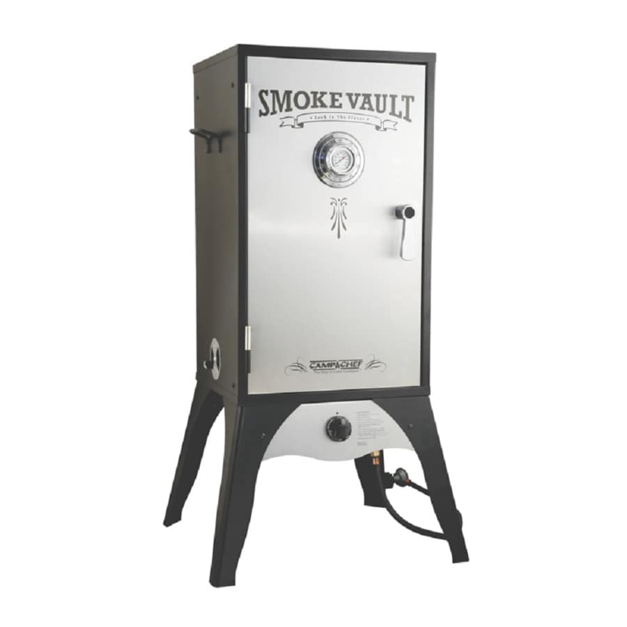 Camp Chef Black and Silver 20-lb Cylinder Electronic Ignition Gas Vertical Smoker (Common: 44-in; Actual: 44-in)