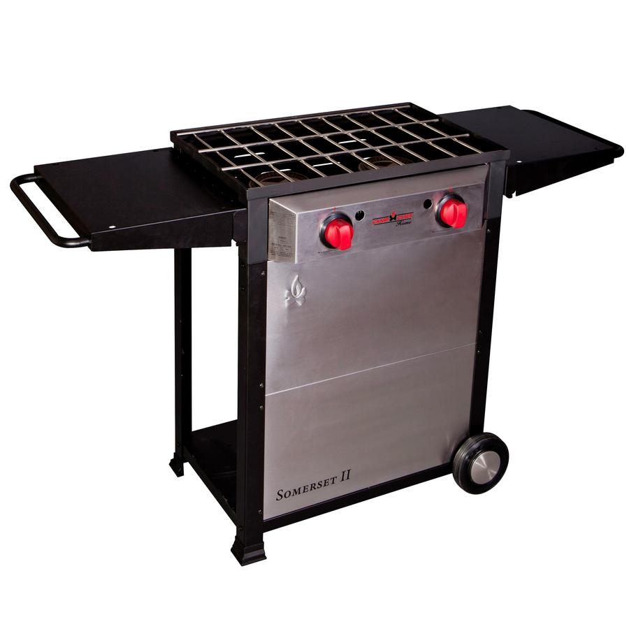 Camp Chef Somerset Ii 34-in 2-Burner Propane 20 Lb. Cylinder Electronic Ignition Outdoor Burner