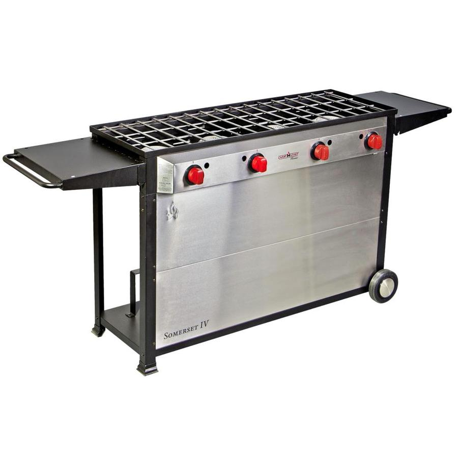 Camp Chef Somerset IV 34-in 4-Burner Propane 20-lb Cylinder Electronic Ignition Outdoor Burner
