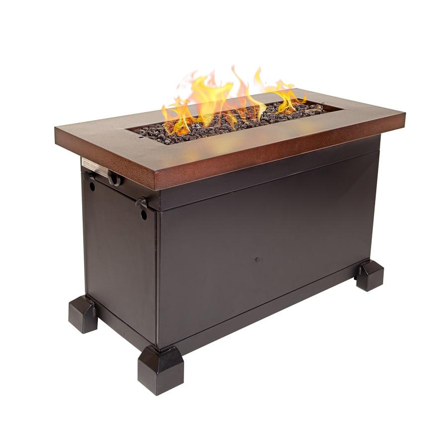 Camp Chef 23-in W 40000-BTU Penny Vein Copper/Bronze Steel Liquid Propane Fire Table