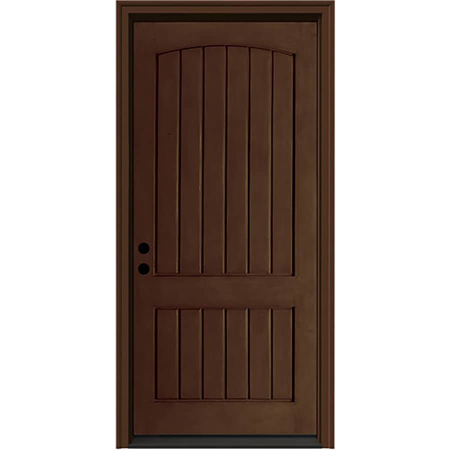Shop jeld wen aurora right hand inswing caramel stained for Exterior door insulation