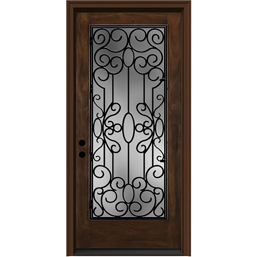 Shop jeld wen aurora decorative glass right hand inswing caramel jeld wen aurora decorative glass right hand inswing caramel stained fiberglass prehung entry door eventshaper