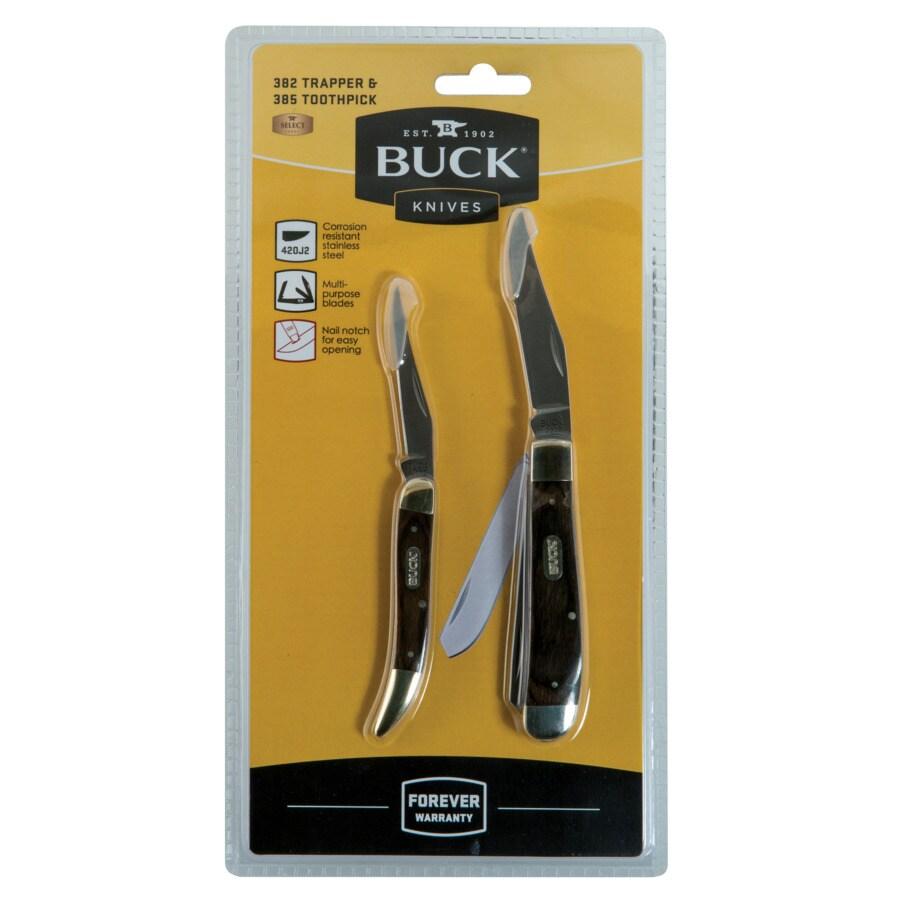 Buck Knives 2.625-in 420J2 Modified Clip Pocket Knife