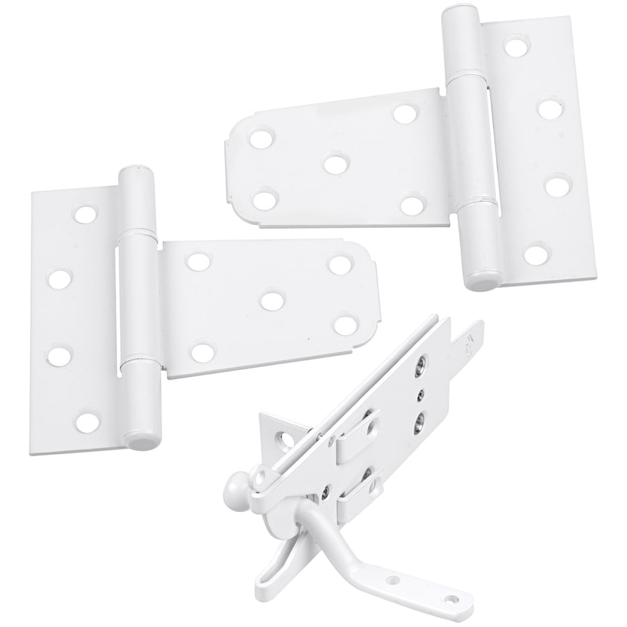 Stanley-National Hardware White Gate Hardware Kit