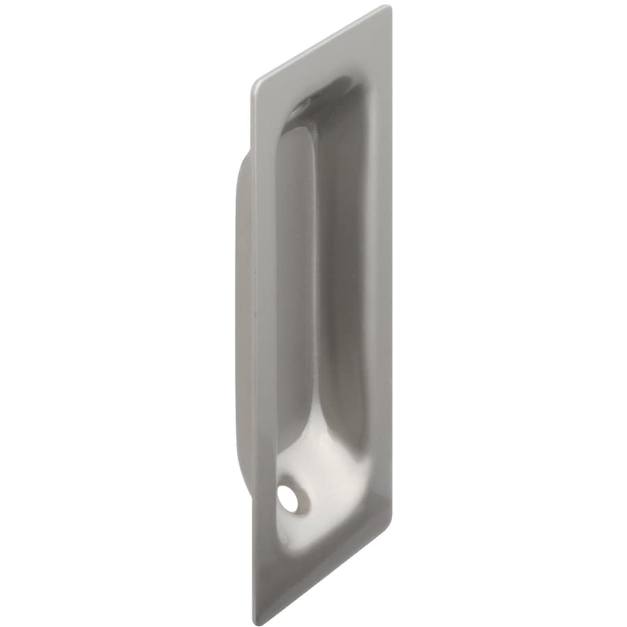 Gatehouse 3.25-in Satin Nickel Pocket Door Pull  sc 1 st  Loweu0027s & Shop Gatehouse 3.25-in Satin Nickel Pocket Door Pull at Lowes.com