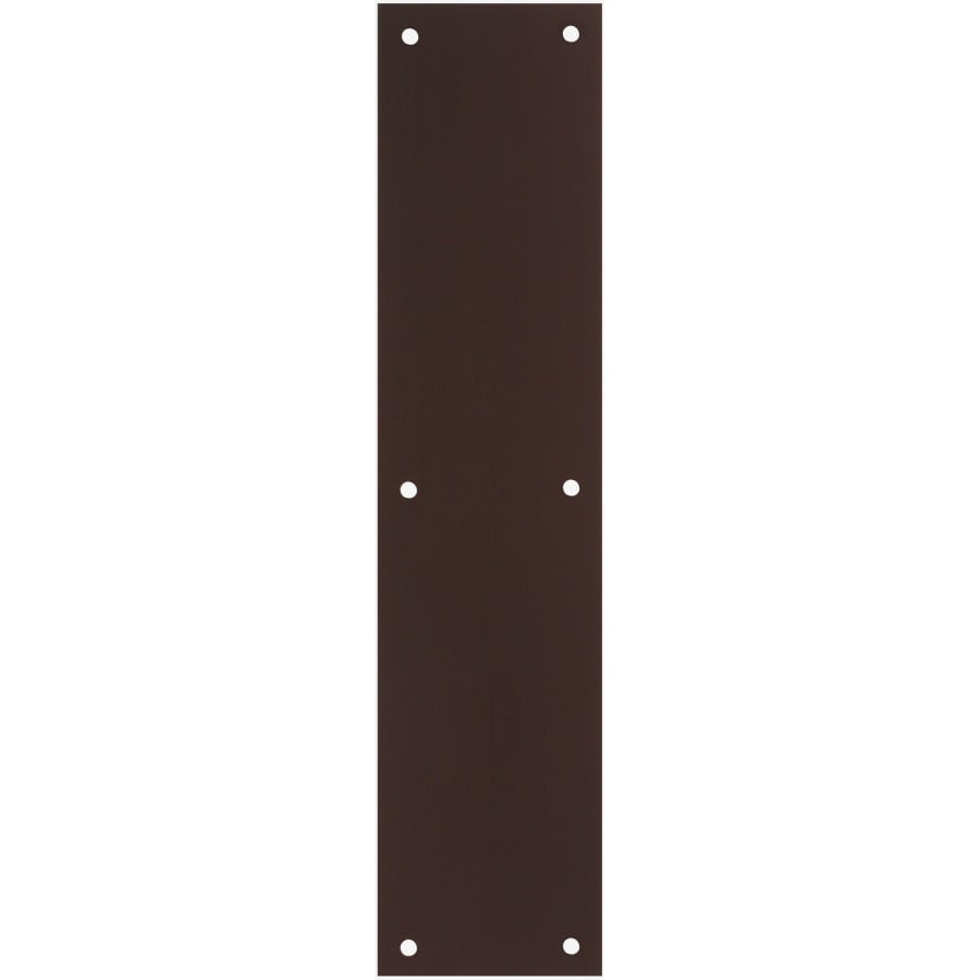 Gatehouse 3.5-in x 15-in Oil Rubbed Bronze Entry Door Push Plate - Shop Entry Door Hardware At Lowes.com