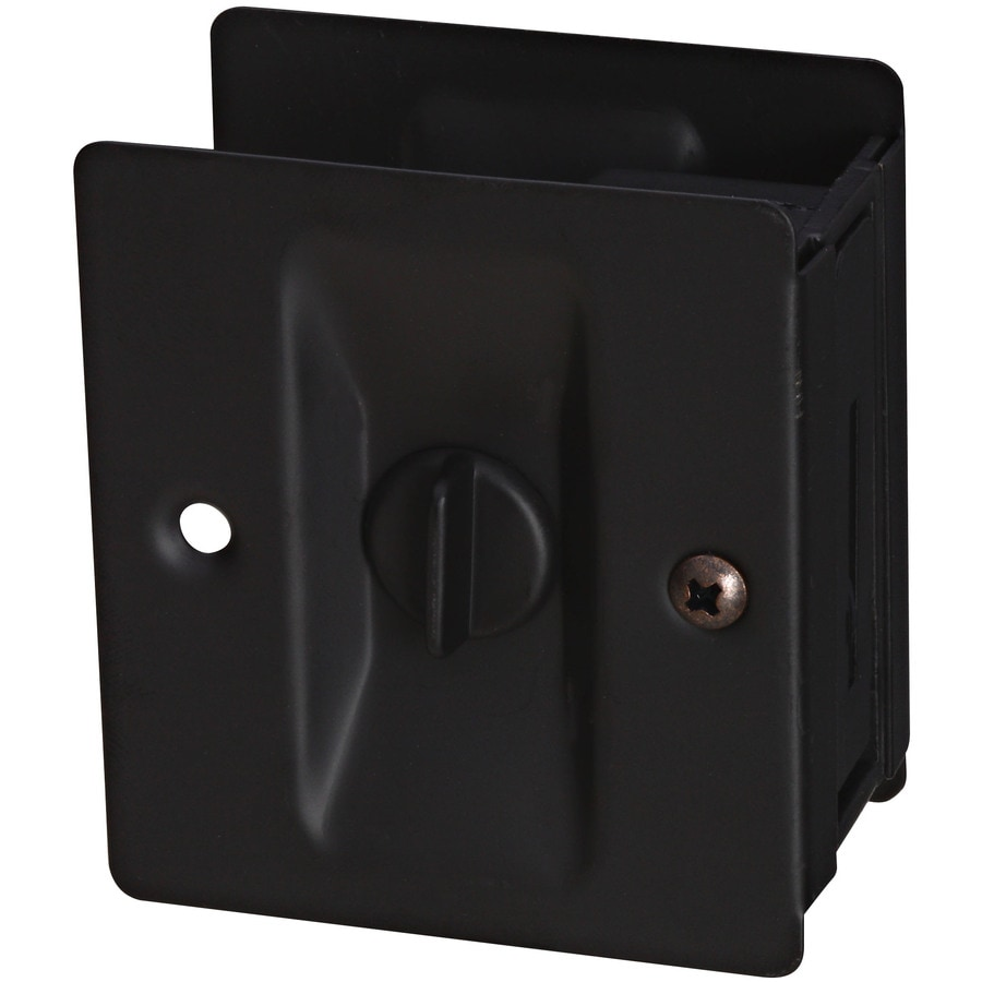 Stanley-National Hardware 2.75-in Oil-Rubbed Bronze Pocket Door Pull