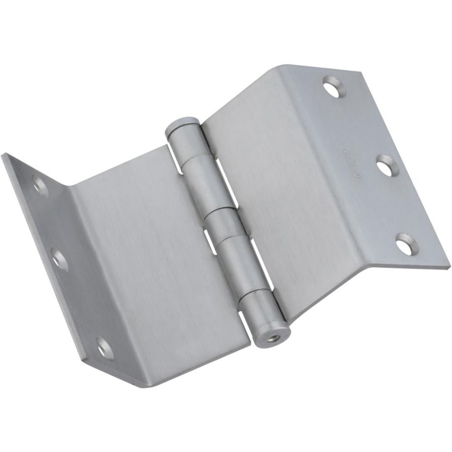 Stanley-National Hardware 3.5-in H Satin Chrome Interior/Exterior Mortise Door Hinge