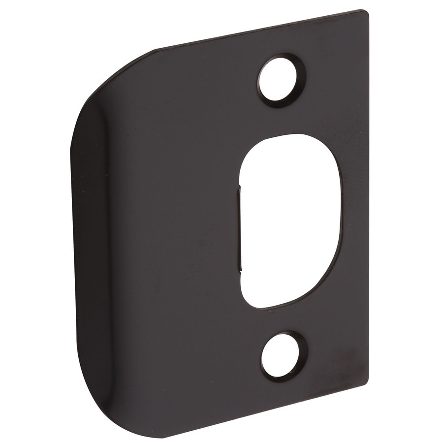 Shop Gatehouse Steel Entry Door Standard Latch Strike Plate At Lowes