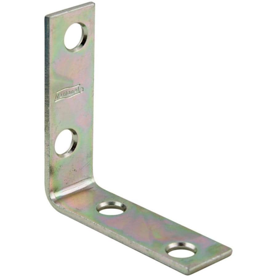 Stanley-National Hardware 4-Pack 2-in Zinc Corner Brace