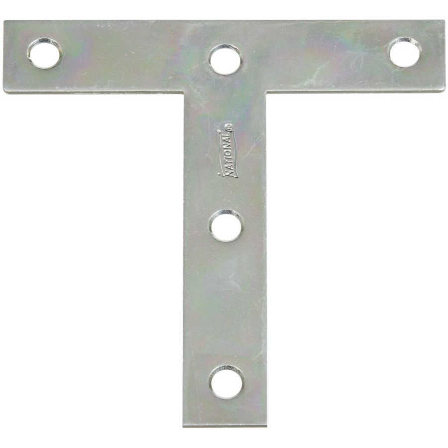 Stanley-National Hardware 2-Pack 4-in x 4-in Zinc-Plated T Plate Brackets