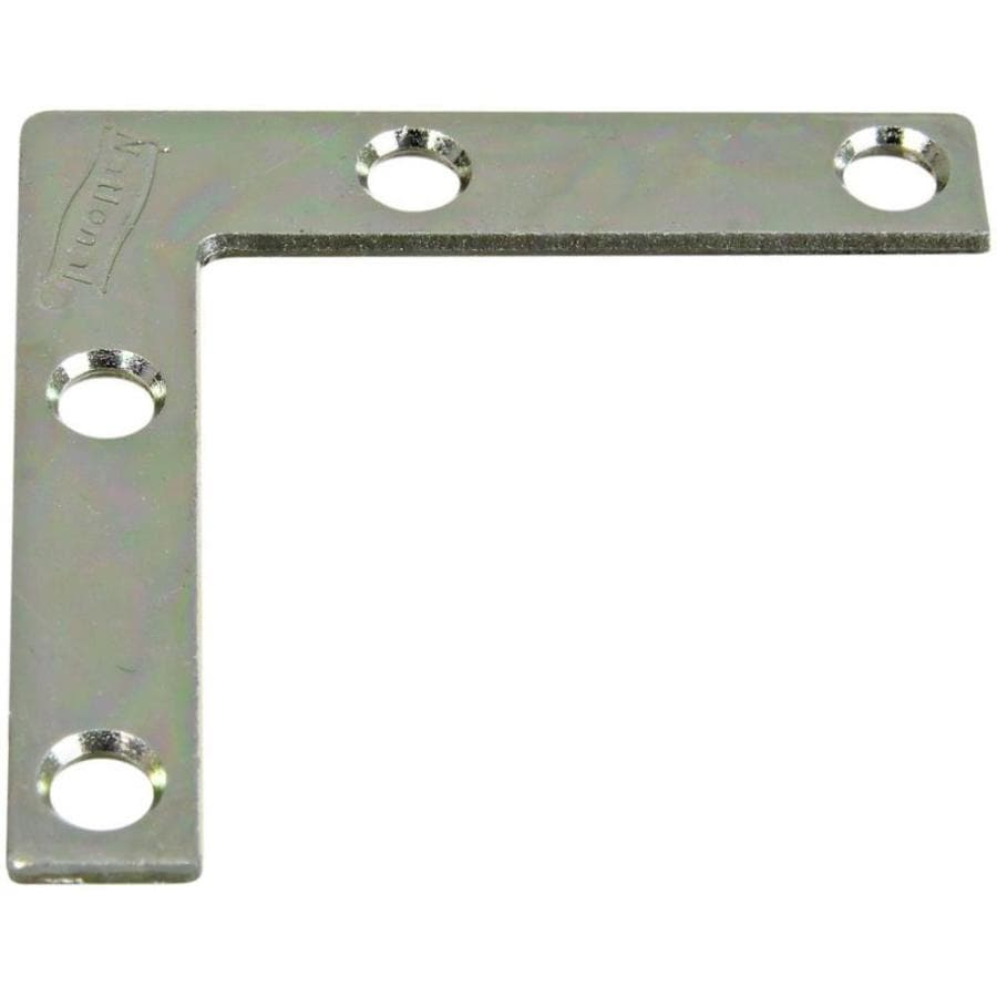 Stanley-National Hardware 4-Pack 0.375-in x 2-in x 0.07-in Zinc-plated Flat Brace