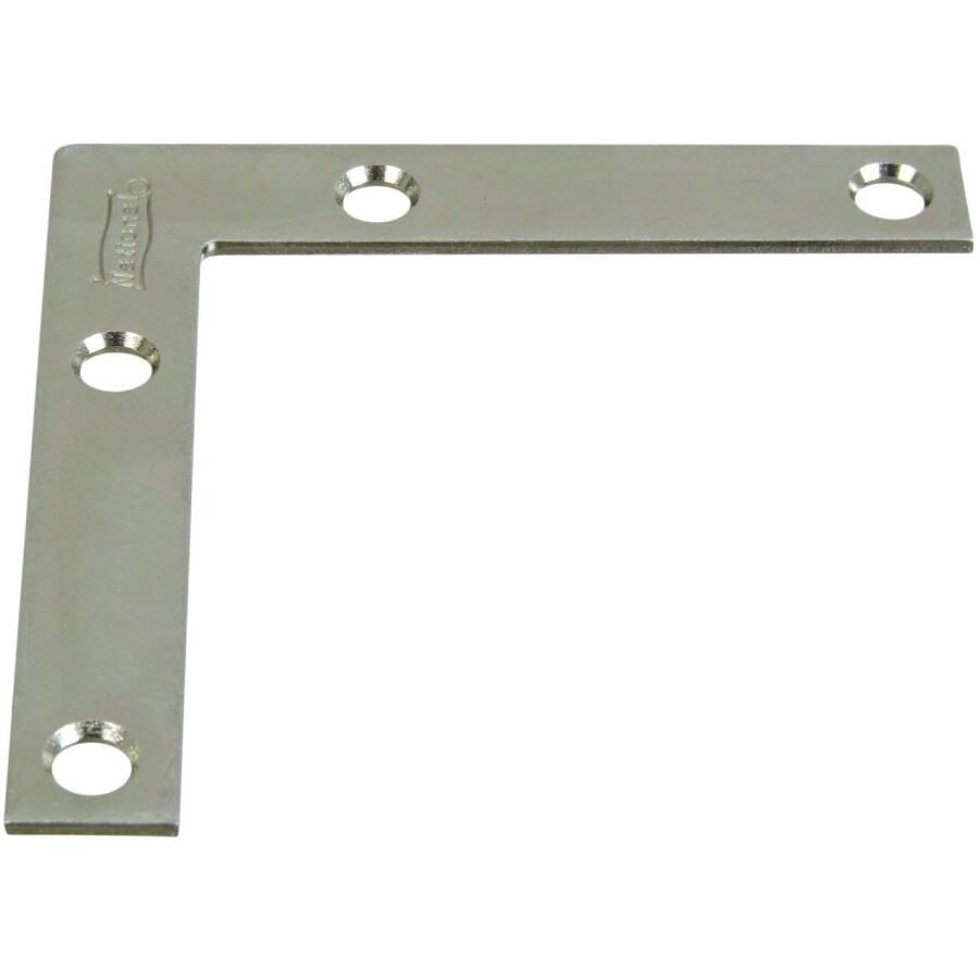 Stanley-National Hardware 4-Pack 0.5-in x 3-in Zinc-Plated Flat Braces