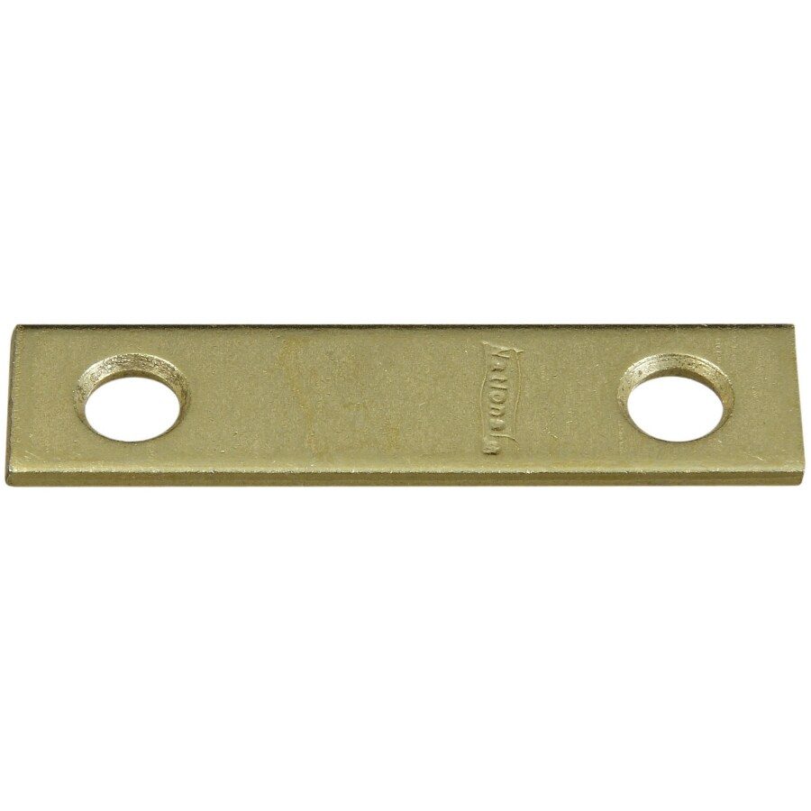 Stanley-National Hardware 4-Pack 0.5-in x 2-in x Brass Flat Brace