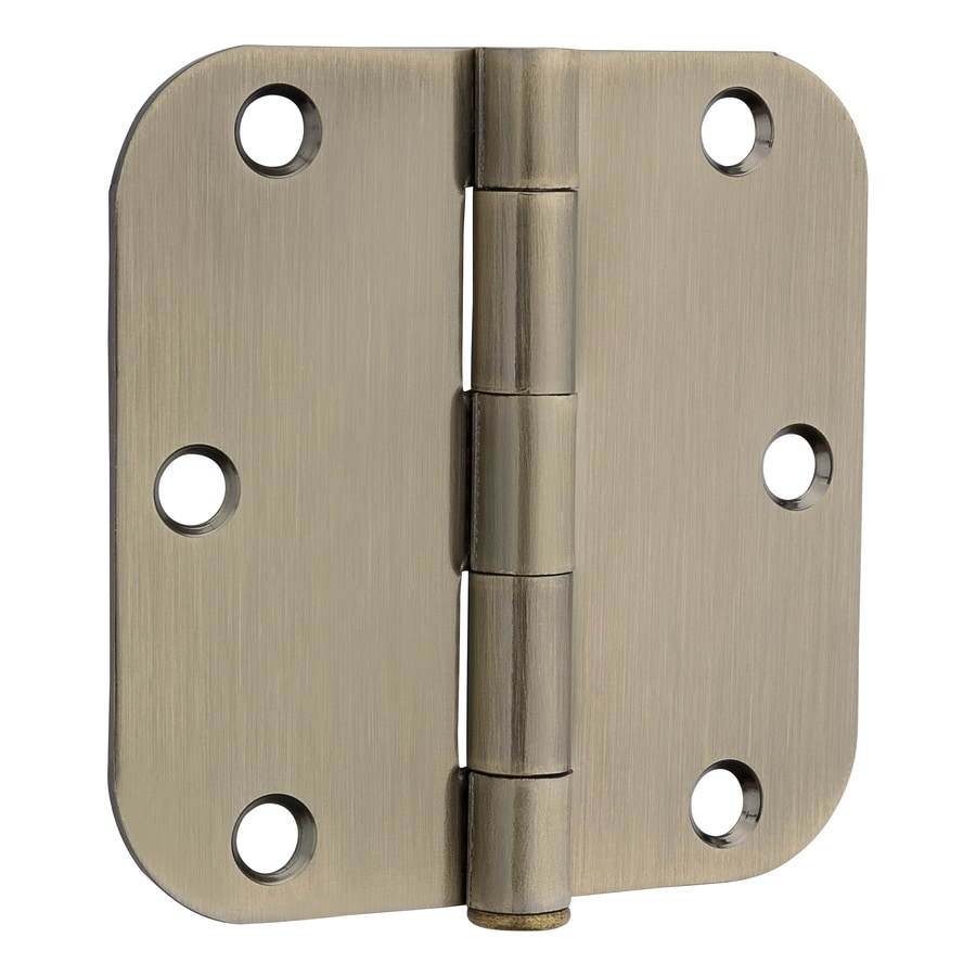 Gatehouse 3.5-in H Antique Brass 5/8-in Radius Interior Mortise Door - Shop Gatehouse 3.5-in H Antique Brass 5/8-in Radius Interior