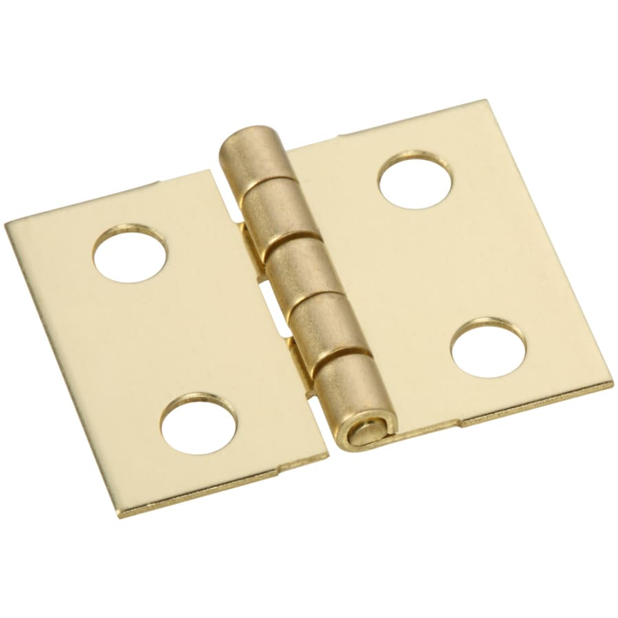 Gatehouse 4-Pack 4-in H Polished Brass Radius Interior Mortise Door Hinge