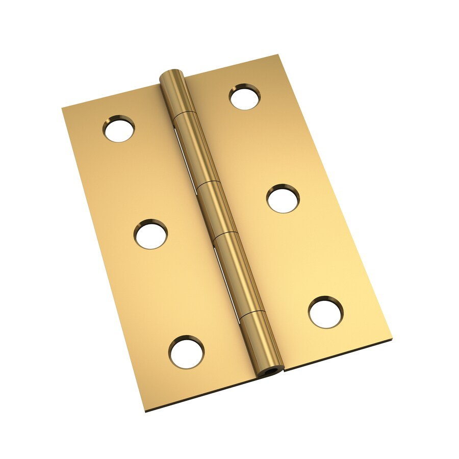 Gatehouse 2-Pack 2.5-in H Polished Brass Interior Mortise Door Hinge