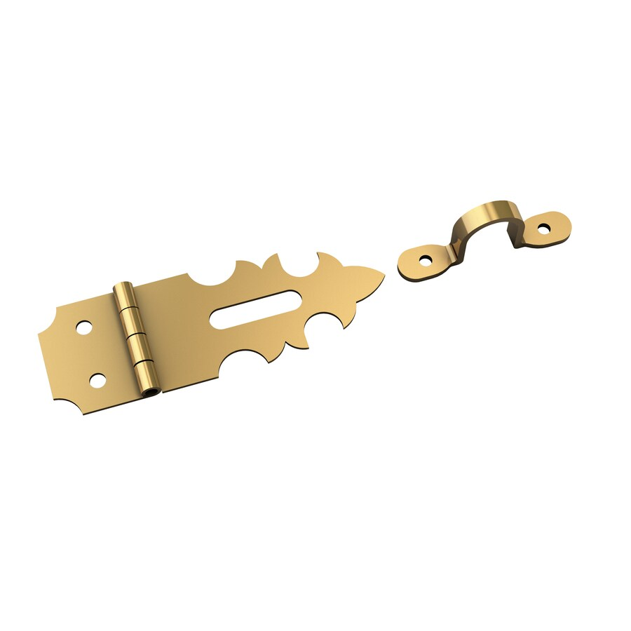 Gatehouse 1.875-in Solid Brass Hasp