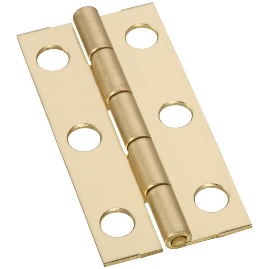Gatehouse 2-Pack 2-in H Polished Brass Interior Mortise Door Hinge