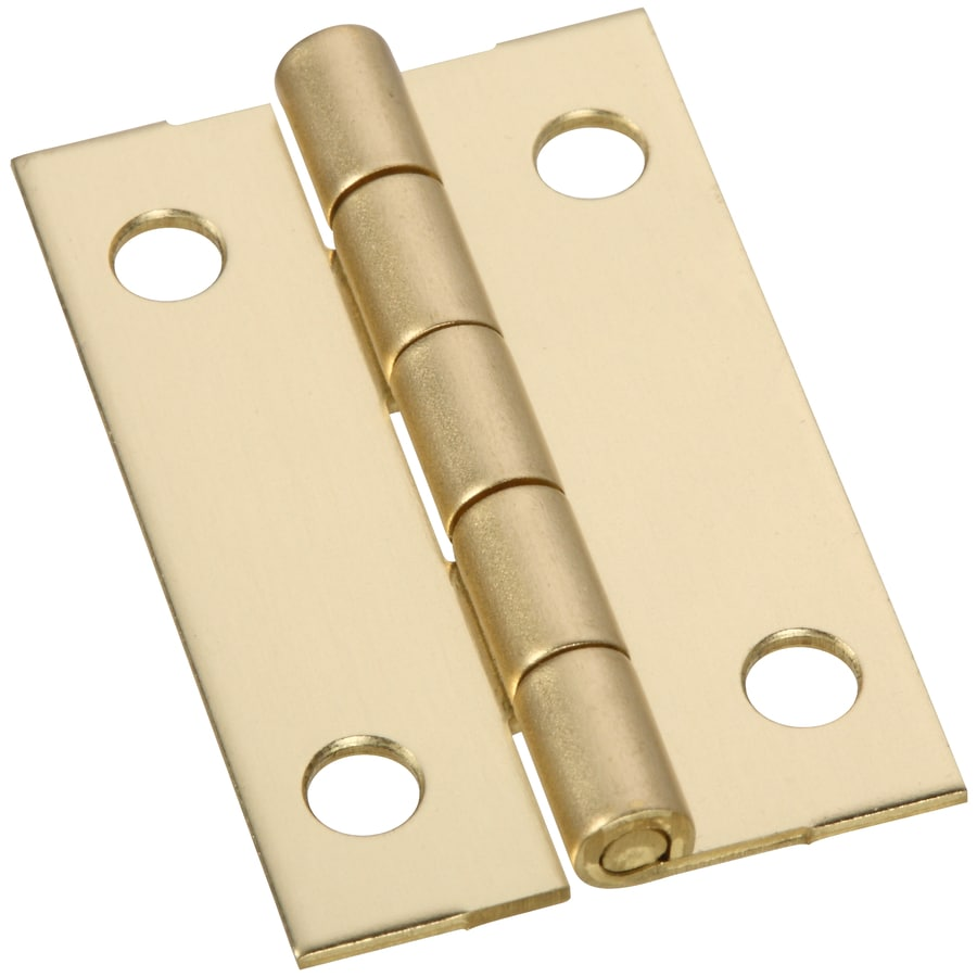 Gatehouse 2-Pack 1.5-in H Polished Brass Radius Interior Mortise Door Hinge