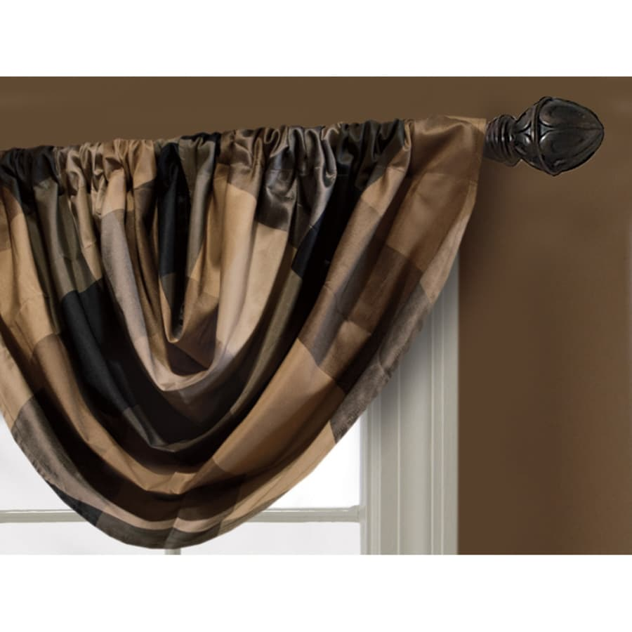 allen + roth 36-in L Onyx Emilia Waterfall Valance