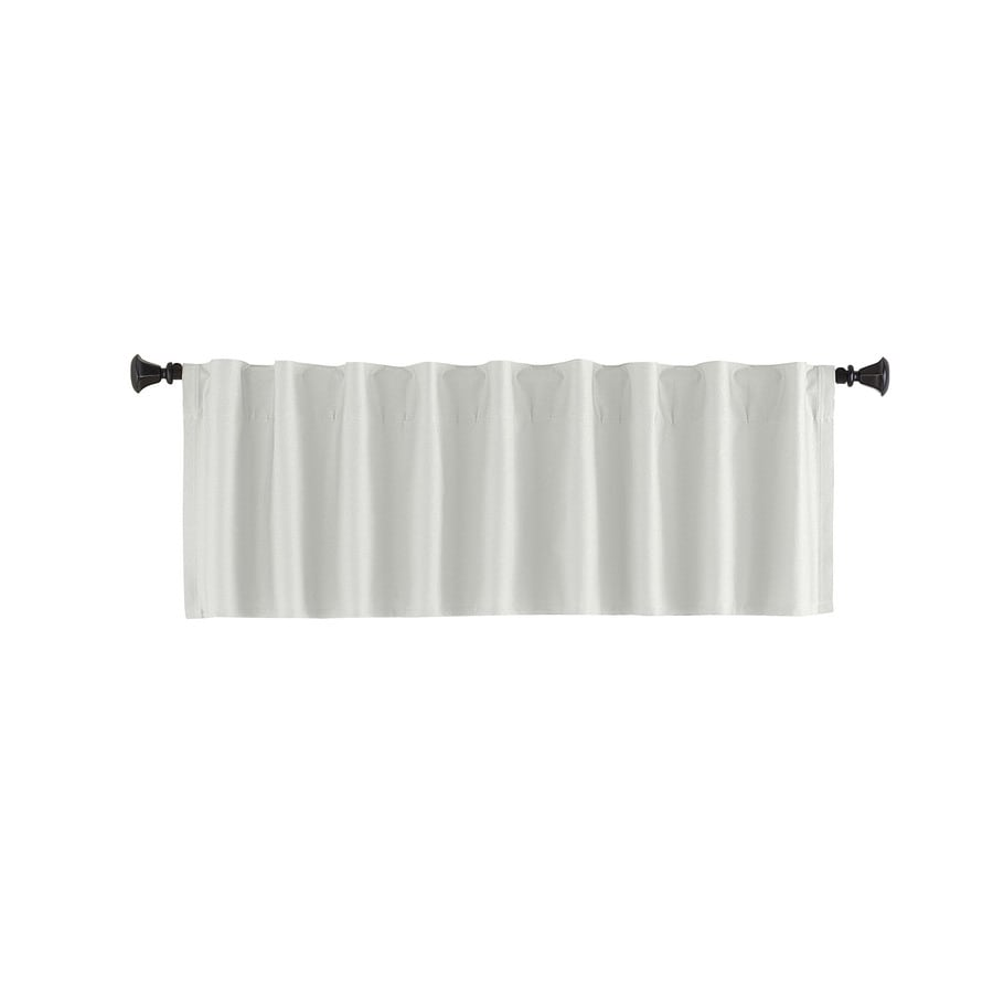 Style Selections Bernard 15-in White Polyester Back Tab Valance