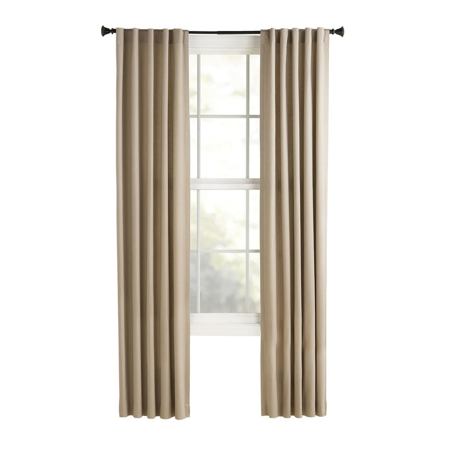 Style Selections Bernard 84-in Tan Polyester Back Tab Light Filtering Single Curtain Panel