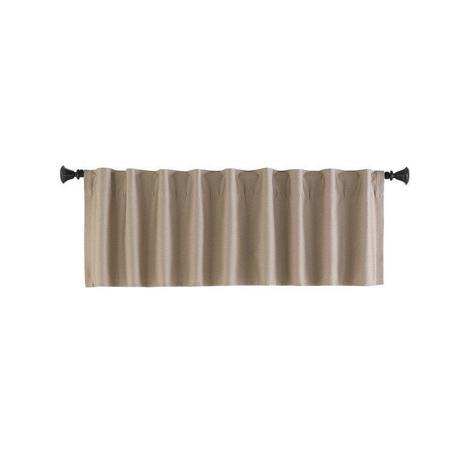 Style Selections Bernard 15-in Tan Polyester Back Tab Valance
