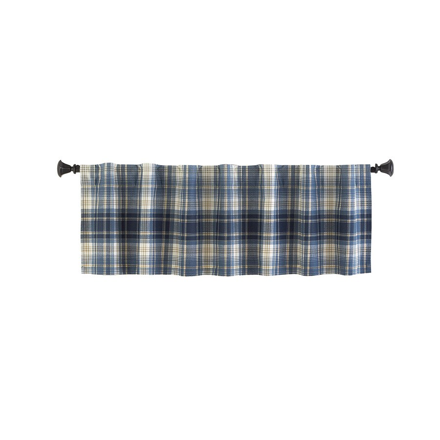 Style Selections Bernard 15-in Blue Multicolor Polyester Back Tab Valance