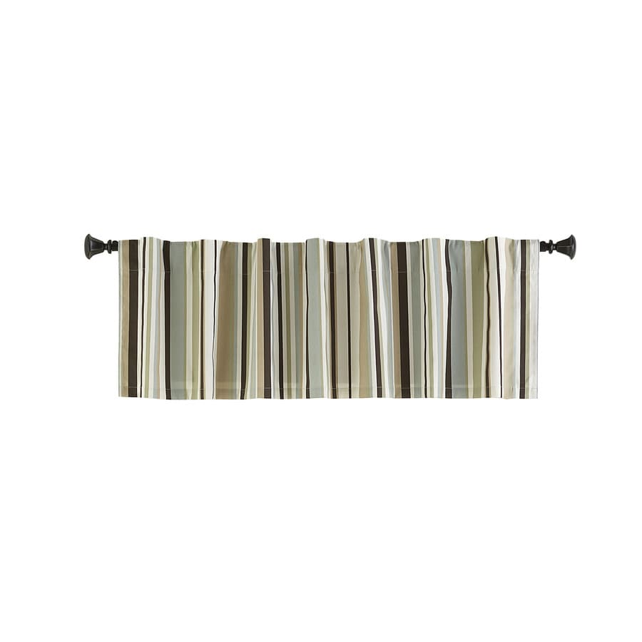 Style Selections Bernard 15-in Green Multicolor Polyester Back Tab Valance