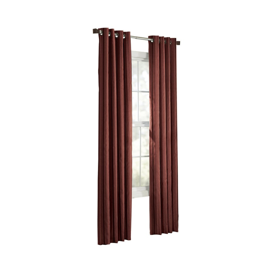 allen + roth City Park 63-in Sienna Polyester Grommet Light Filtering Single Curtain Panel