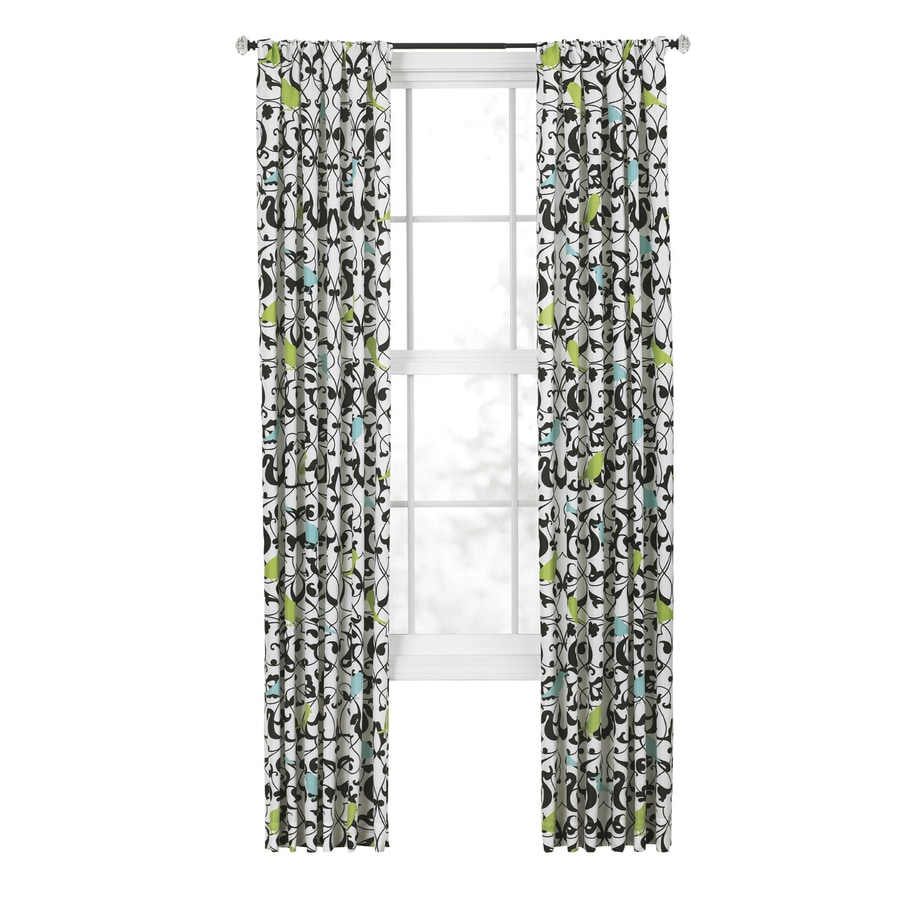 Style Selections Sheply 84-in Multi Polyester Rod Pocket  Single Curtain Panel