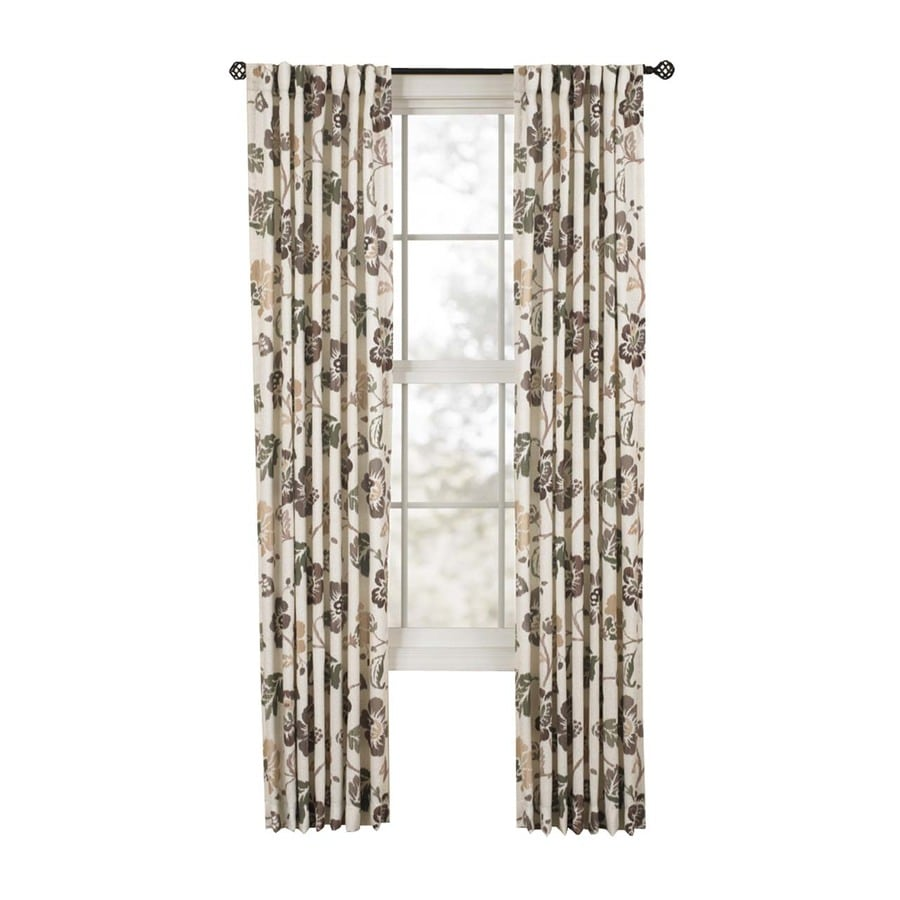 Style Selections Tombolo 84-in Nutmeg Polyester Back Tab Single Curtain Panel