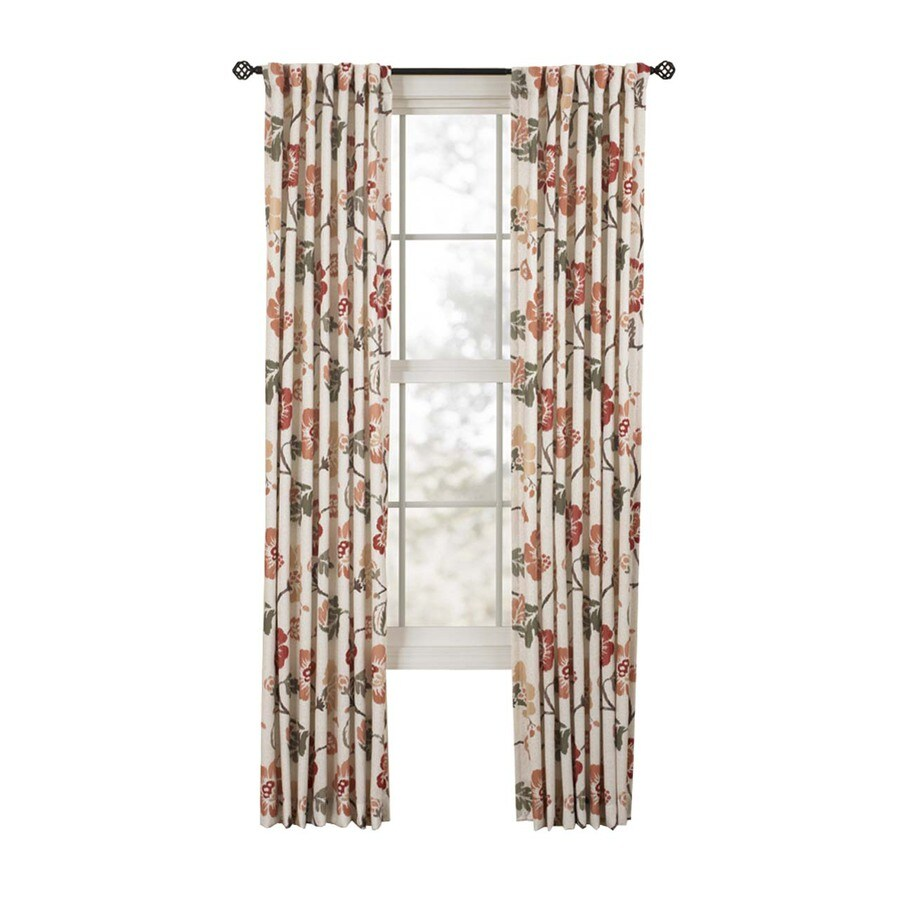 Style Selections Tombolo 84-in Spice Polyester Back Tab Single Curtain Panel