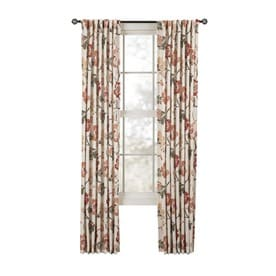 Style Selections Tombolo 84-in Spice Polyester Back Tab Light Filtering Single Curtain Panel