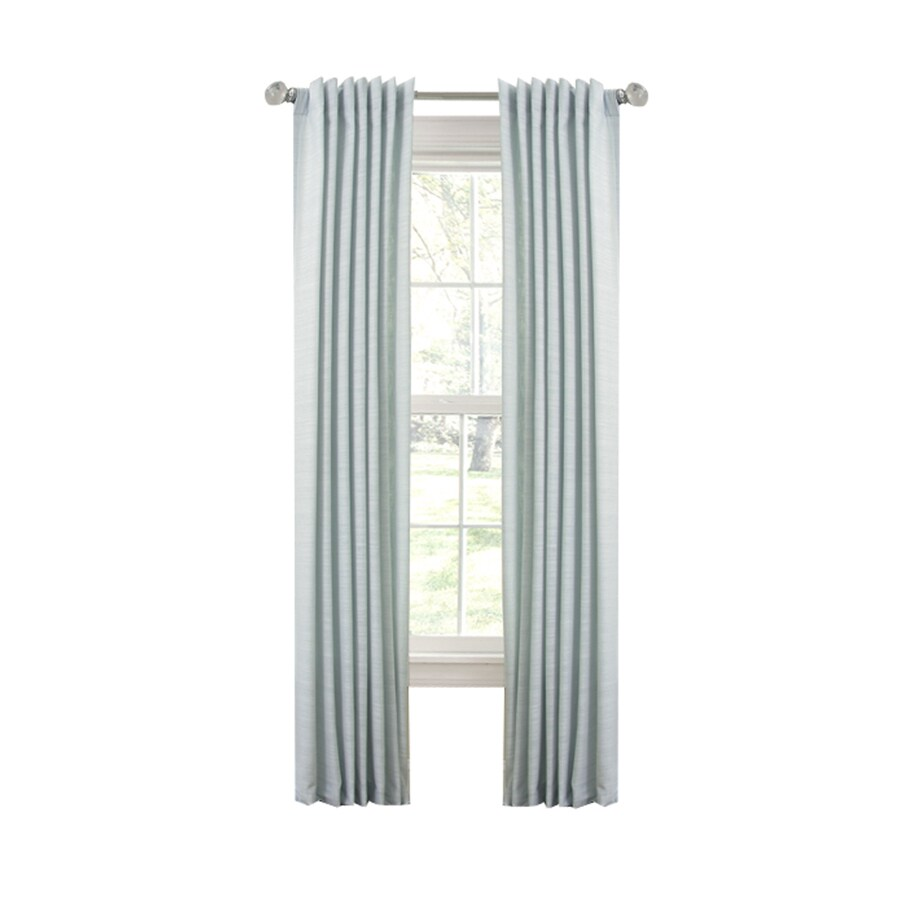 allen + roth Evington 84-in Mineral Cotton Back Tab Single Curtain Panel
