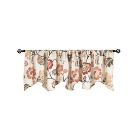 Style Selections Tombolo 20 In Spice Polyester Rod Pocket Valance