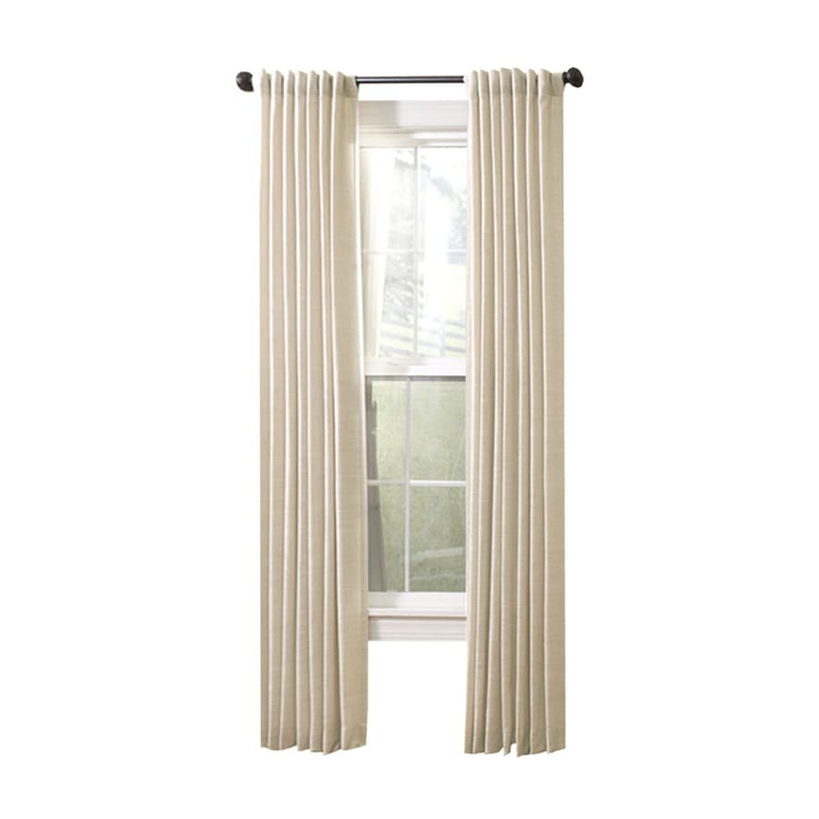 allen + roth Evington 63-in Linen Cotton Back Tab Light Filtering Single Curtain Panel